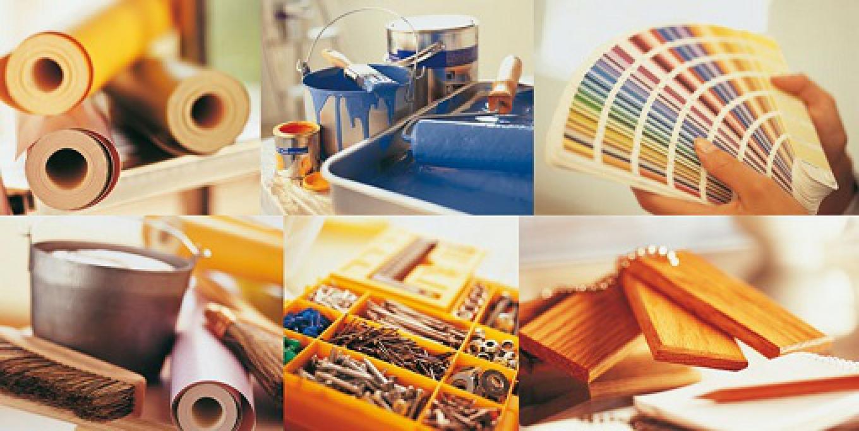 Вам понадобится много материалов, выберите их и рассчитайте нужное количество.