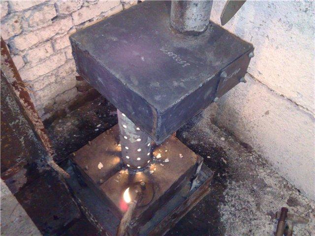 Фото 12 Буржуйка, которая работает на отработанном масле (отработке)