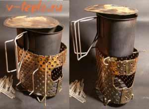 Вариант №1. Миниатюрная печка из консервной банки