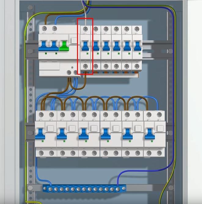 подключение диммера в щитке на отдельный автомат