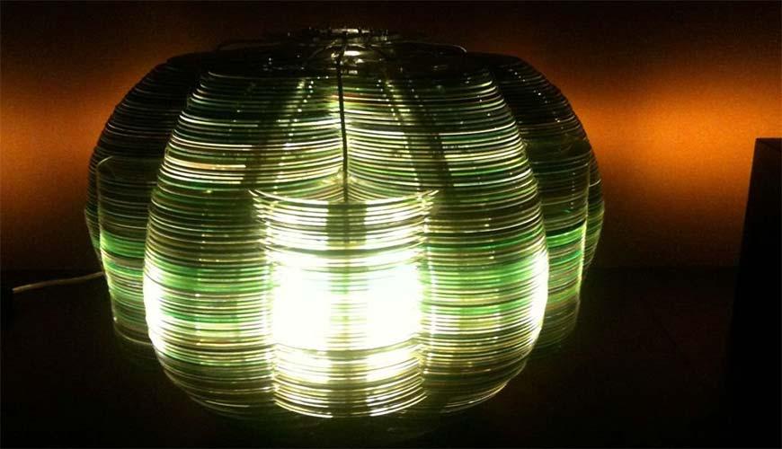 Идея люстры из лазерных дисков