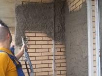 Механизированный способ нанесения цементной штукатурки