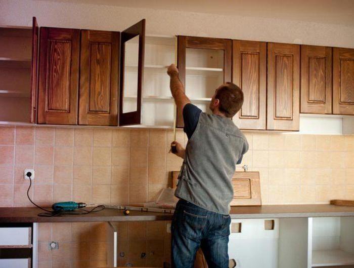 Как правильно повесить кухонные шкафы на стену