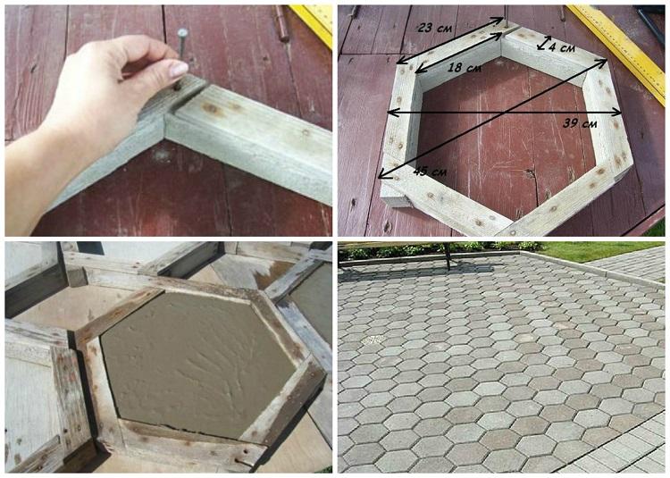 Как изготовить деревянные формы для тротуарной плитки своими руками