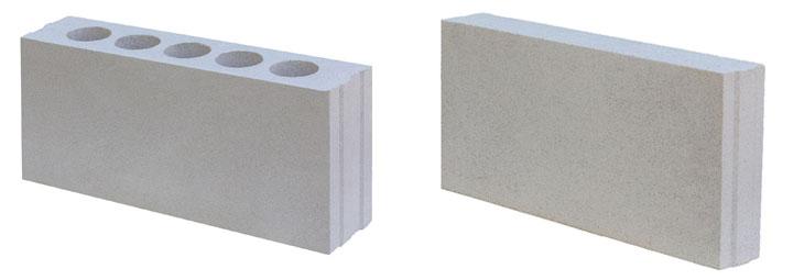 Виды строительных ПГП: полнотелые и пустотелые (пористые)