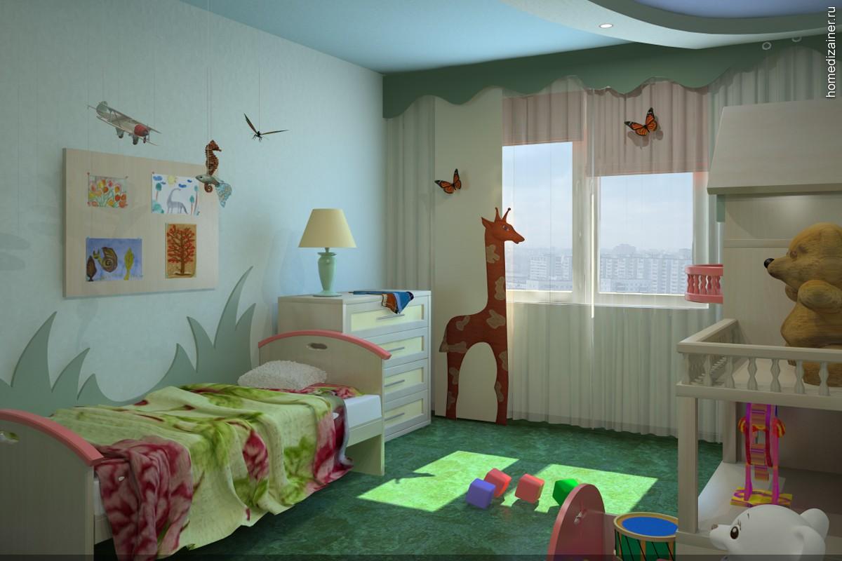 большая детская комната для ребенка картинка