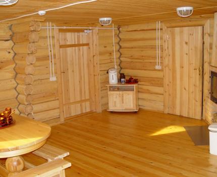 Вентиляции в парилке и смежных комнатах