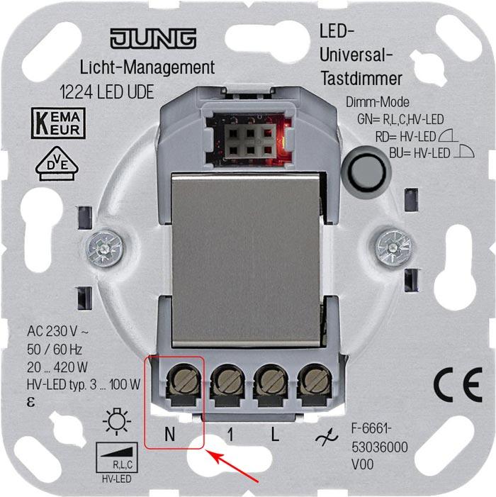 диммер требующий для подключения фазу и нолевой проводник