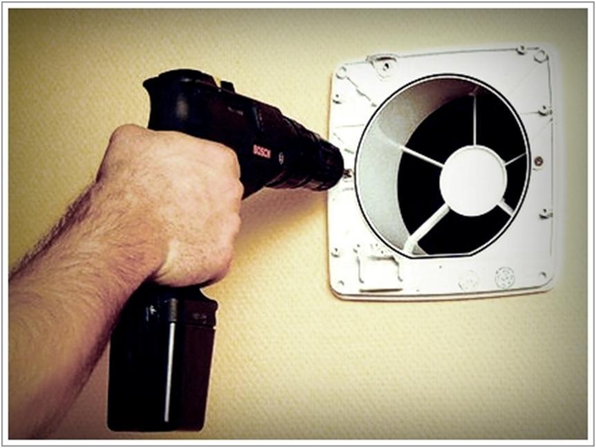 Установка вентилятора в отверстие канала
