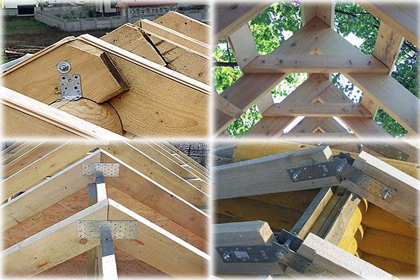 способы соединения стропил двухскатной крыши