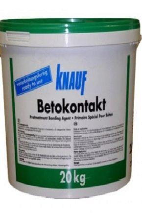Расход грунтовки Knauf Betokontakt на 1 м2