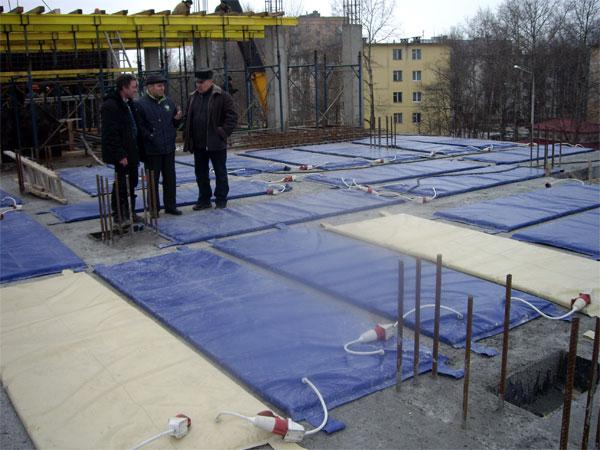 электроподогрев для бетона