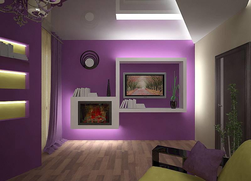 Светодиодная лента для подсветки потолка в гостиной