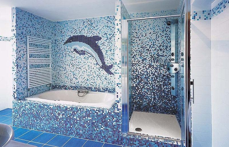 Необычные варианты декорирования стен в ванной