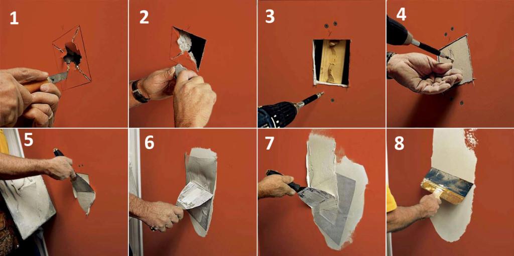 Как отремонтировать стену из гипсокартона