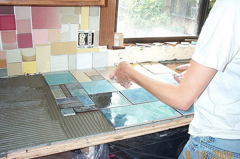 Столешница из керамической плитки