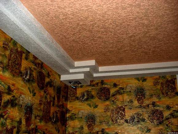 Штукатурка короед: фото в квартире