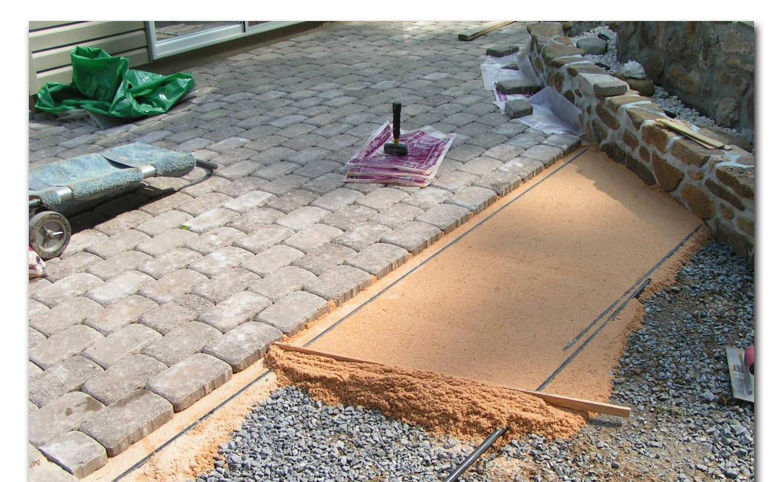 Укладка плитки на песок и щебень