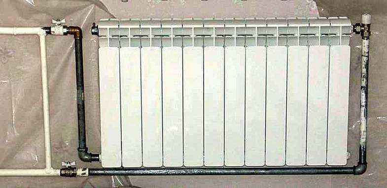 Подача теплоносителя снизу