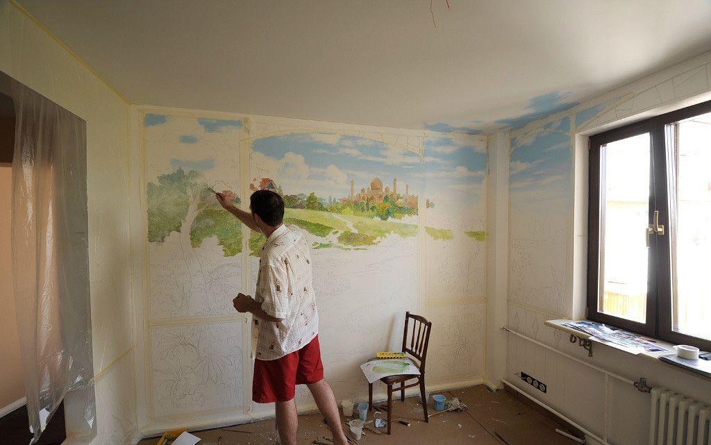 нанесение фрески
