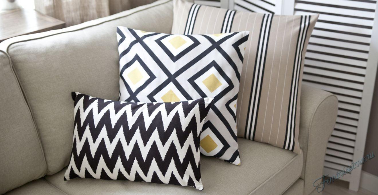 Декоративные подушки в интерьере - 50 вдохновляющих фото идей