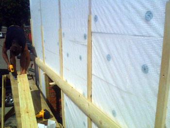 фото установка обрешотки для крепления блок хауса