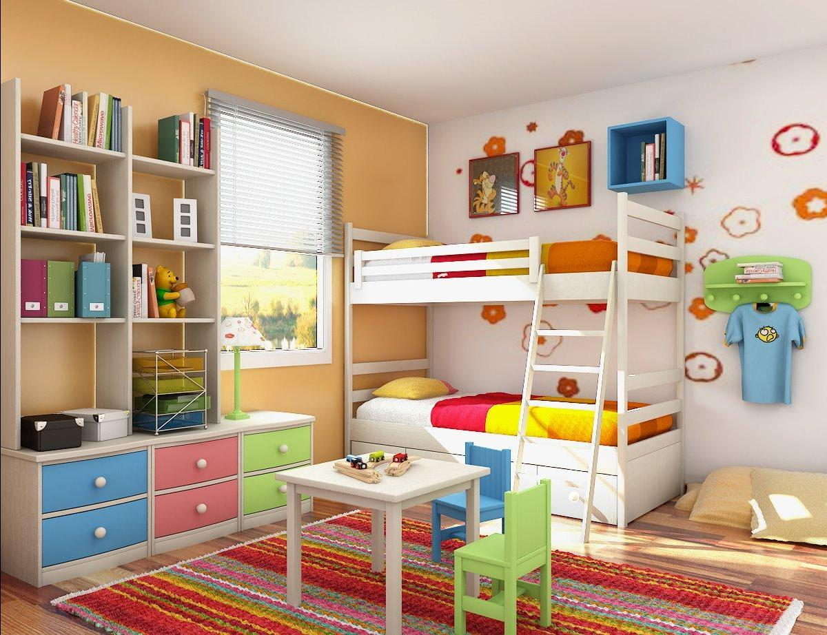 яркая спальня для мальчика фото
