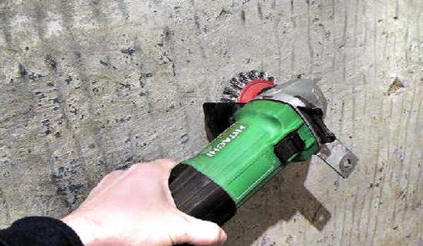 Снятие краски болгаркой с механической щеткой