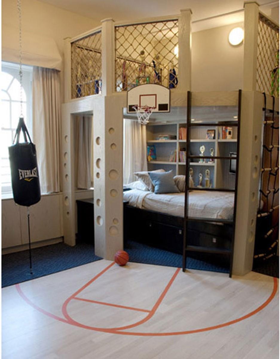 необычная детская спальня для мальчика фото