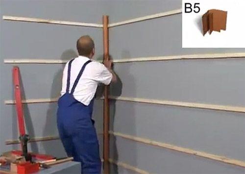 Монтаж уголка