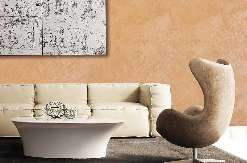 После железнения проявляется рисунок, стена становится похожей на мрамор, имеет легкий шелковистый блеск