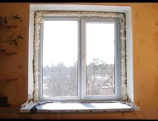 Так выглядит окно после монтажа