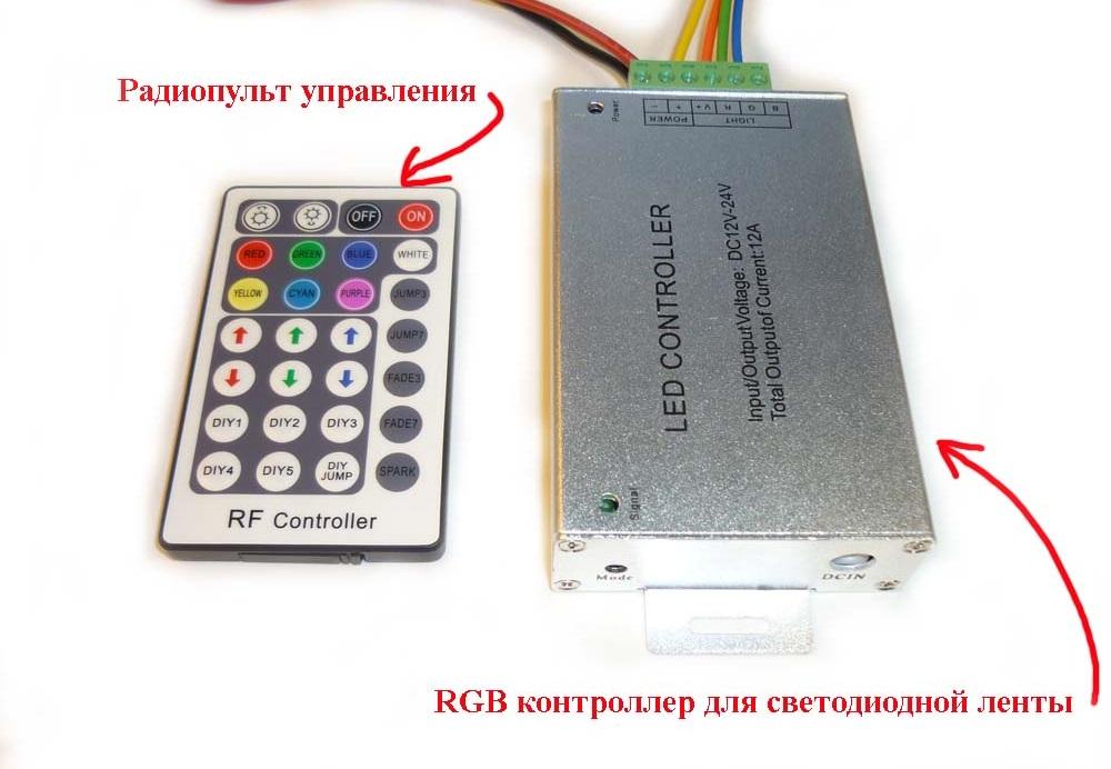Контроллер для светодиодной ленты RGB