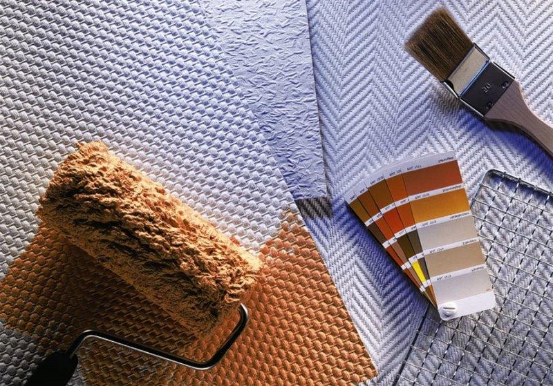 Стеклообои имею широкий выбор фактур, идеально подходя для покраски.