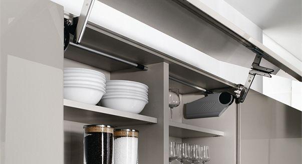 Как повесить кухонные шкафы на мебельные петли