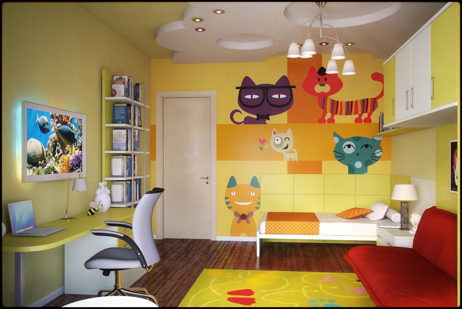 яркая детская спальня для ребенка дизайн