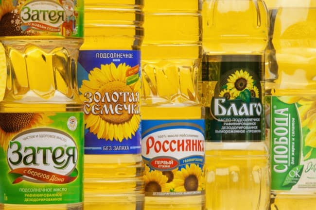 Растительное масло и стиральный порошок