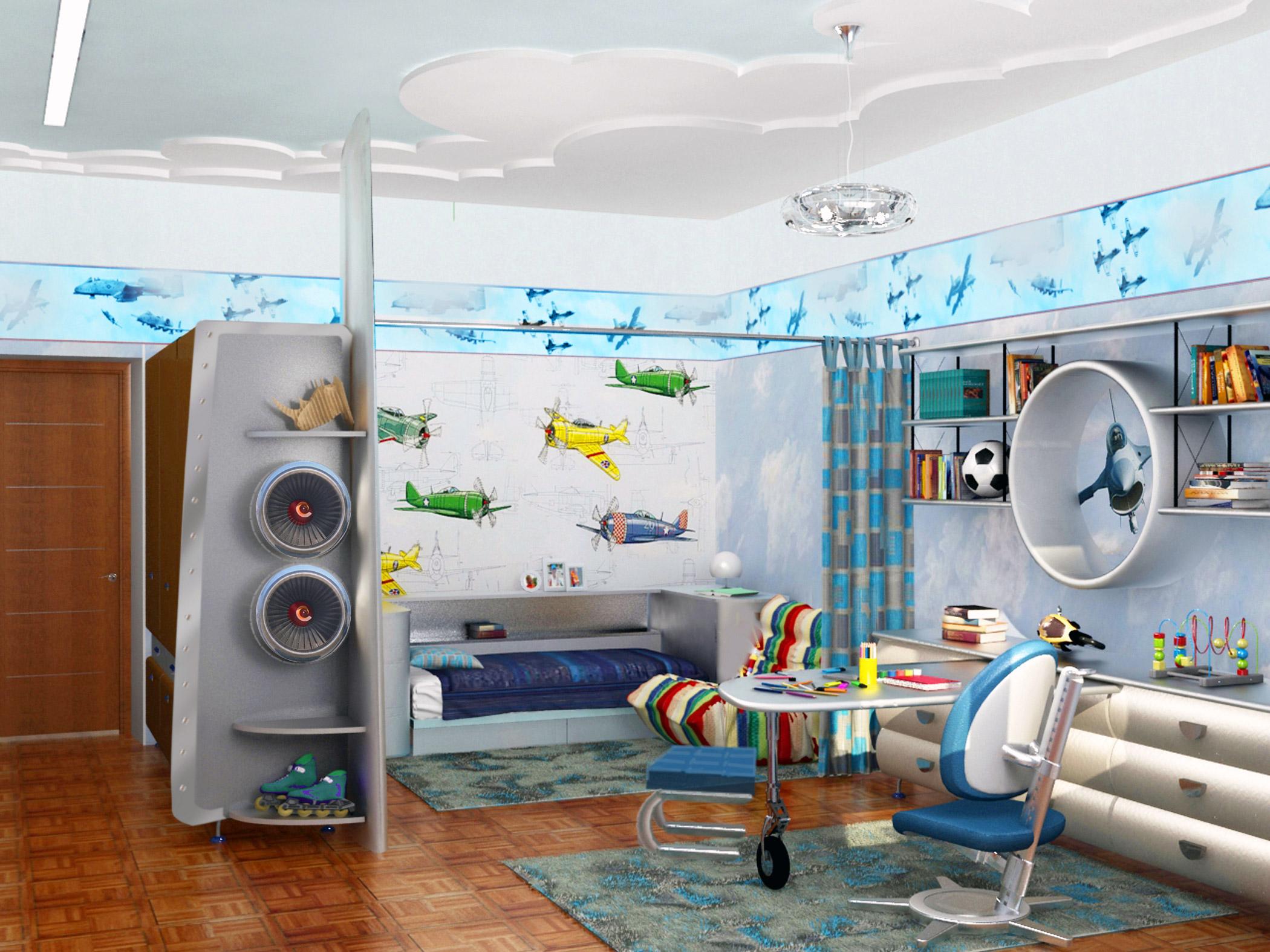 красивая спальня для ребенка