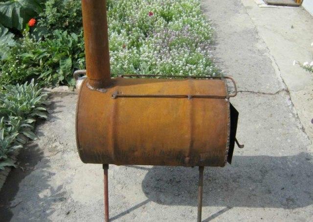 Фото 9 Буржуйка из металлической бочки, сделанная своими руками за 2 часа