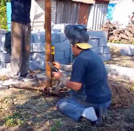 Сваривание стальной обсады