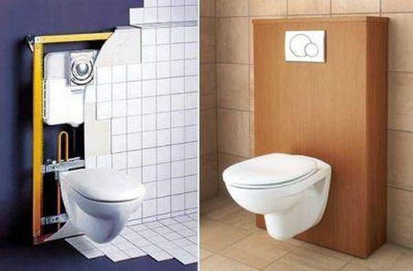 Блочная инсталляция для унитаза или биде крепится к прочной стене
