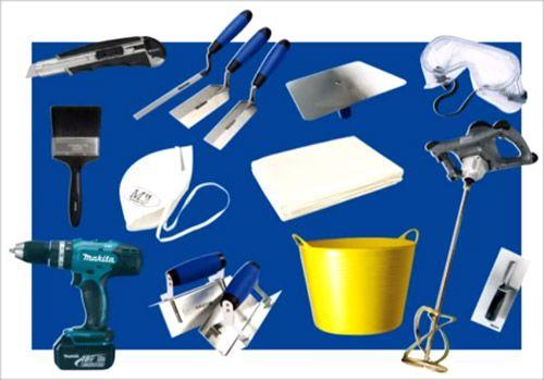 Инструменты, необходимые для шпаклевки