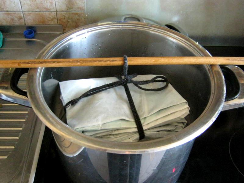Техника запаривания батика
