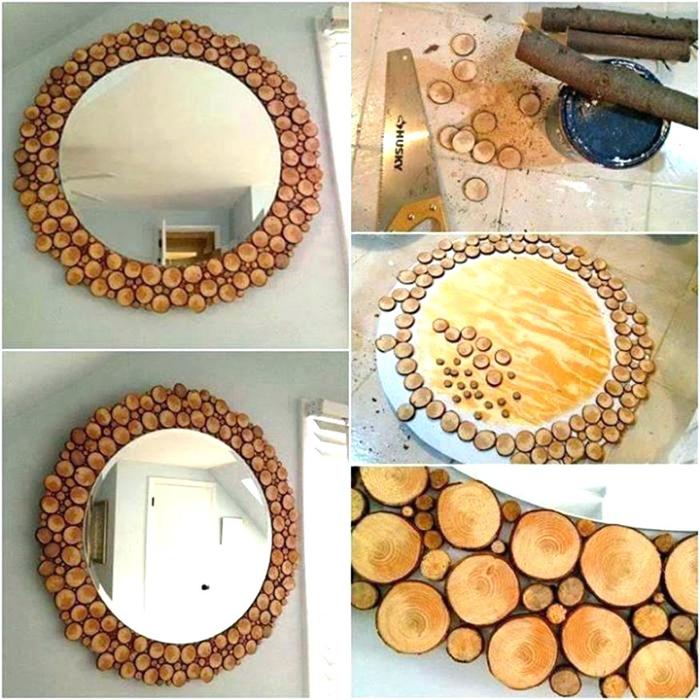 Пошаговое декорирование зеркальной рамки