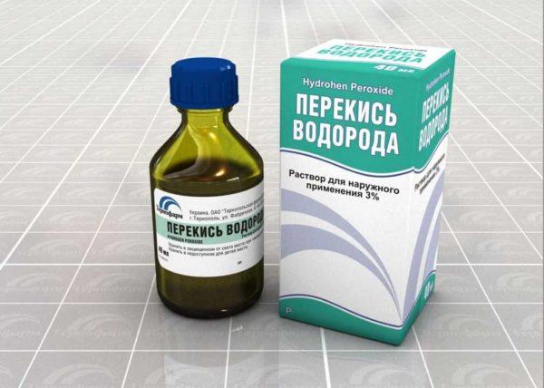 Провести дезинфекцию при помощи перекиси водорода