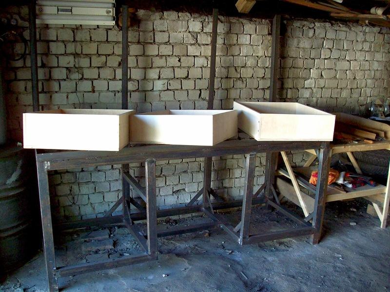 Изготовление ящиков верстака
