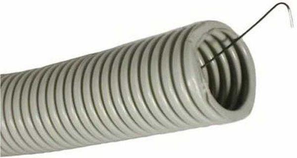 Прокладка кабеля в земле: гофрированная ПНД труба с зондом для более легкой протяжки