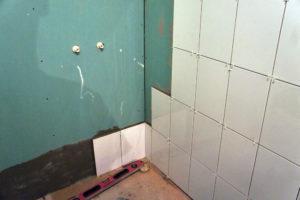Стена в ванной из гипсокартона