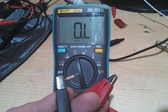 Подготовка к проведению замера сопротивления резистора