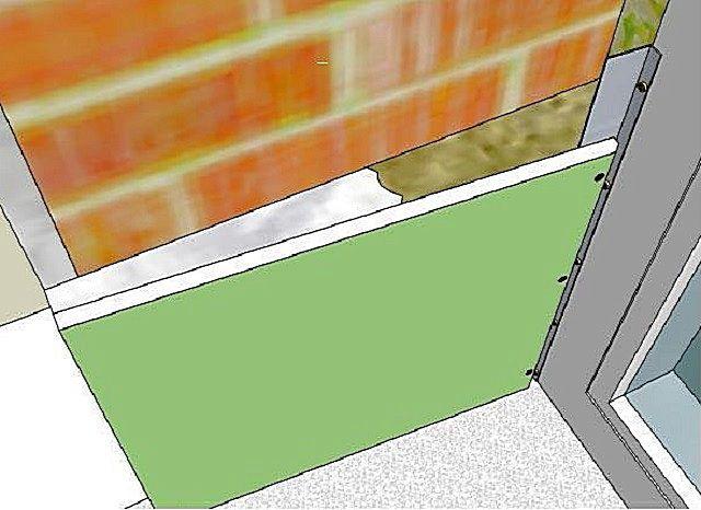 Комбинированное крепление гипсокартонных деталей - на клей и на направляющие